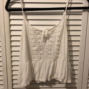 Beautiful lacey white summer tank top.